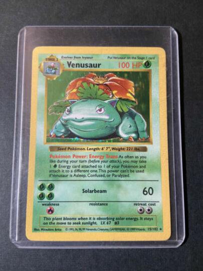 Pokemon Venusaur Shadowless HOLO RARE Base Set 1999 Card #15/102 Item Image