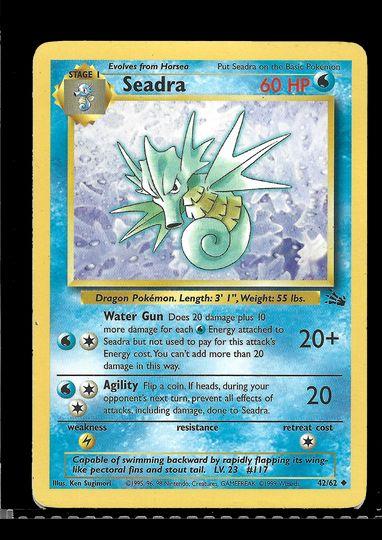 42/62 Seadra Fossil Uncommon Excellent Item Image