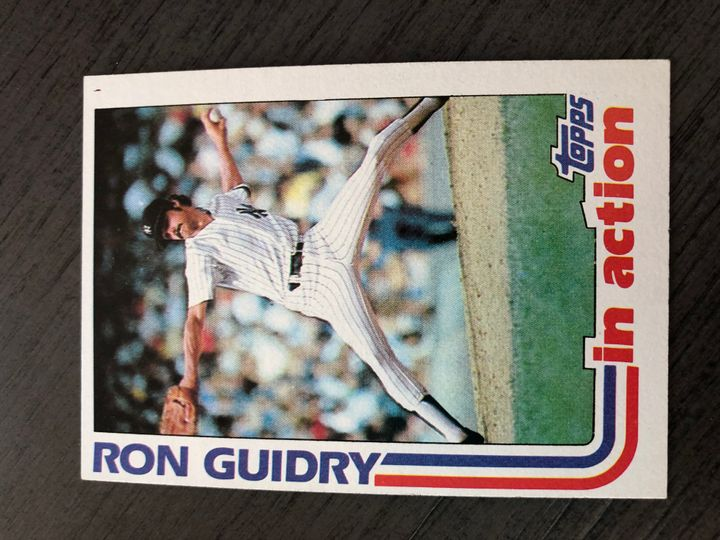 1982 TOPPS RON GUIDRY 10 Item Image